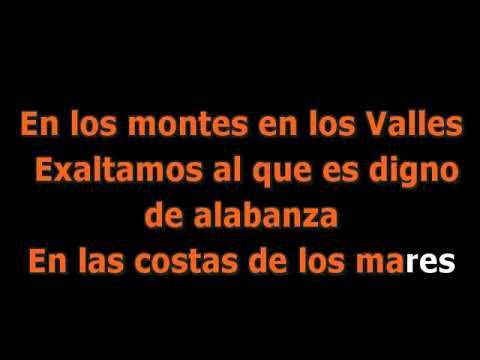 En los montes en los valles - Video Karaoke Cristiano