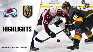 NHL Highlights | Avalanche @ Golden Knights 12/23/19