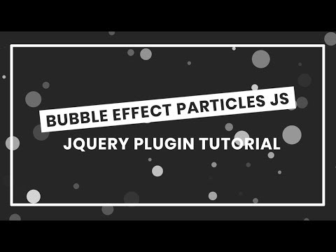 Bubble Effect background Animation With Particles JS | how to use particles.js