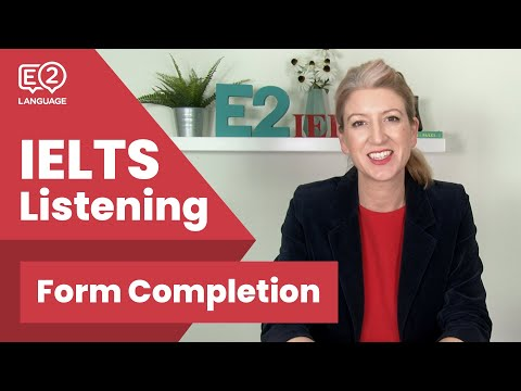 IELTS Listening Form Completion with Alex