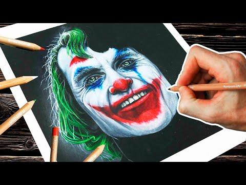 Как нарисовать Джокера | Joker Drawing - Joaquin Phoenix