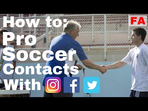 How to Get Professional Soccer Contacts with Social Media