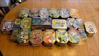 21 Pokemon Tin Opening