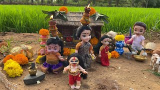 Miniature Telangana Bonam special 2021|How to Prepare Bonam | Pothuraju DJ Dance| Tiny Food Hunter|