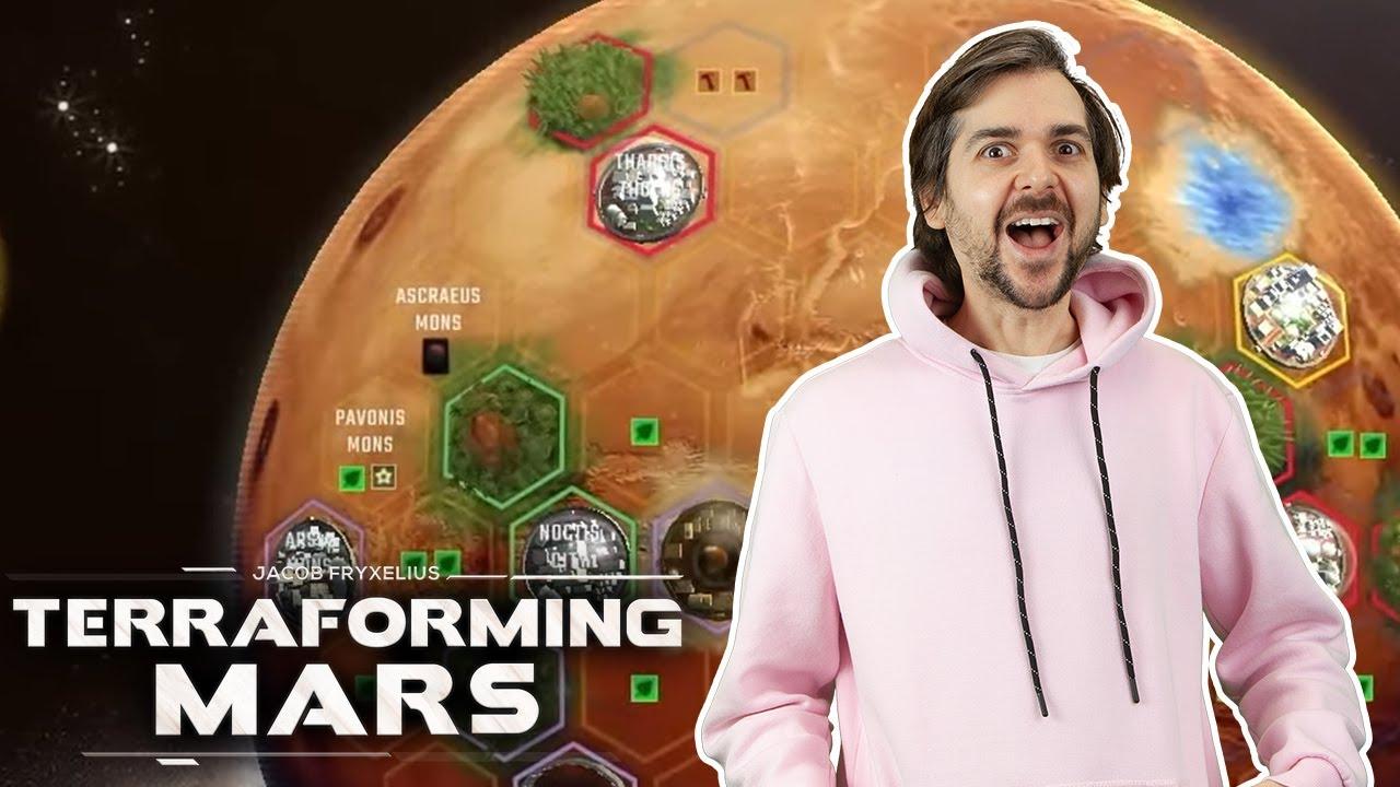 Taking ALL the Cards | Terraforming Mars | Lewis, Duncan, Daltos & Rythian!