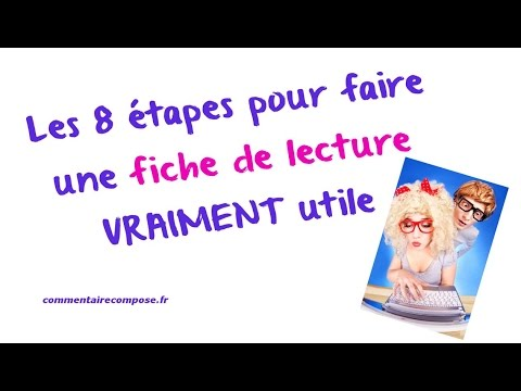 comment faire une fiche de lecture vraiment utile youtube. Black Bedroom Furniture Sets. Home Design Ideas