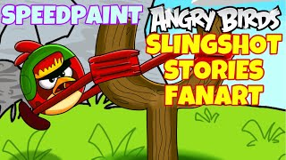 SPEEDPAINT: ANGRY BIRDS SLINGSHOT STORIES | PROCREATE 5