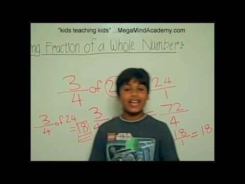 Finding Fraction Of A Whole Number