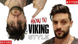 VIKING HAIR & BEARD CUT & STYLING TIPS | Fuller/Thicker Looking Hair & Beard INSTANTLY!