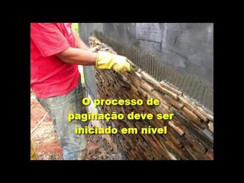 Como assentar pedras ferros irregulares em paredes youtube for Como alisar paredes irregulares