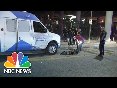 Man Tries To Carjack Houston News Van Before Stealing Police Car | NBC News