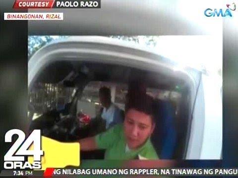 24 Oras: Driver ng nag-counterflow na UV Express, siya pang galit sa rider na muntik niyang mabangga