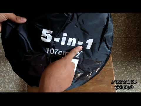 First Look and Unboxing of Soni 42 – inch / 107 cm 5 in 1 Collapsable Reflector