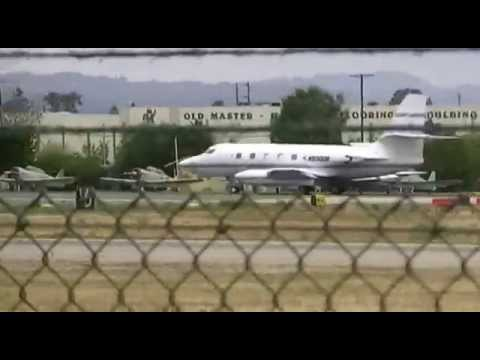 (Very rare) Lockheed Jetstar 2 taking off from Van Nuys airp