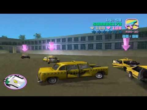 GTA Vice City Walkthrough Mission #51 - Cabmaggedon