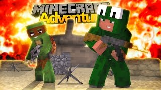 Minecraft Adventure : LITTLE LIZARD AND TINY TURTLE JOIN THE ARMY!