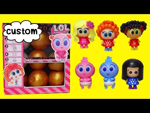 Custom LOL Surprise DIY Box with Tiny Babies | Toys and Dolls Pretend Play Fun for Kids | SWTAD