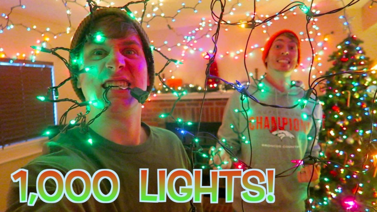 1,000 CHRISTMAS LIGHTS OVERLOAD! - YouTube