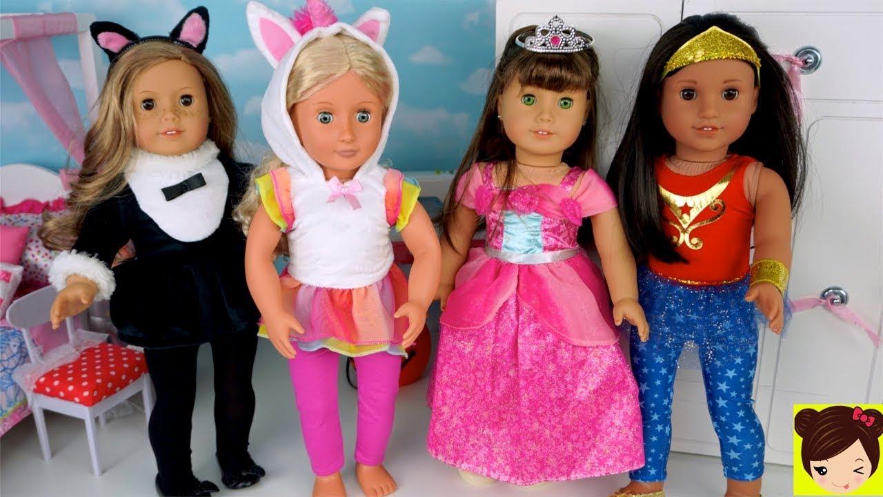 Vestimos a Muñecas con Disfraces de Unicornio, Sirena Princesa ...