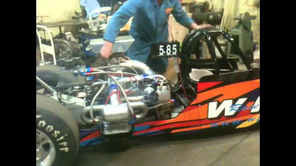 WPVW Dragster engine start with Pauter cylinders