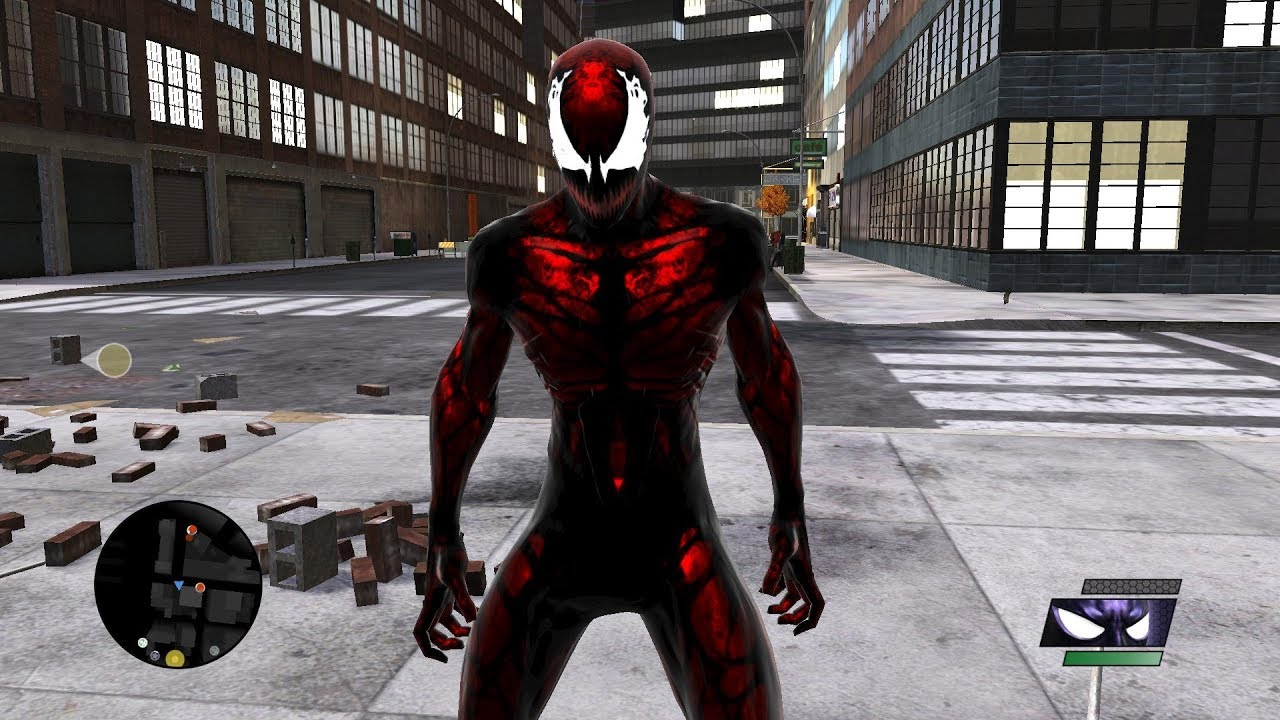 Carnage SPIDER-MAN in Spider-Man: Web of Shadows - YouTube