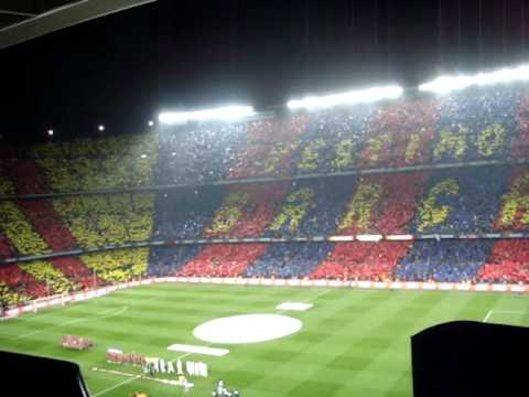 CAMP NOU ATMOSPHERE BARCELONA 5 vs MADRID 0 MOSAICO 29 Nov 2010