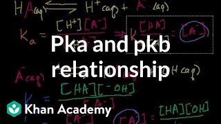pKa and pKb relationship | Acids and bases | Chemistry | Khan Academy