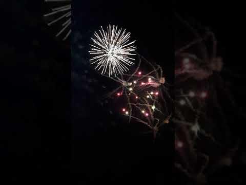 Fireworks at the Hartford motor Speedway in Hartford michigan