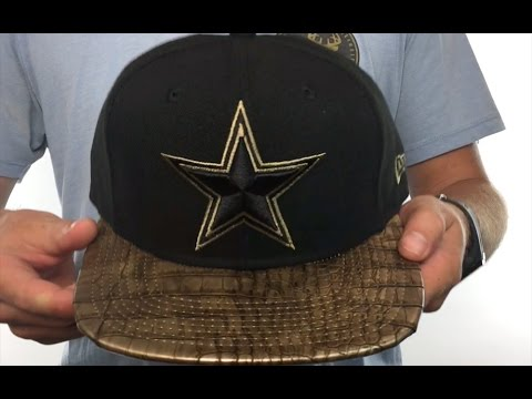 Cowboys  TEAM-LUXE STRAPBACK  Black-Gold Hat by New Era - YouTube 81a22aa83