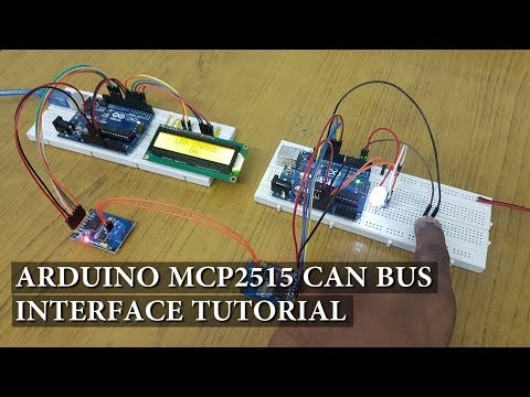 Arduino MCP2515 CAN Bus Interface Tutorial - YouTube