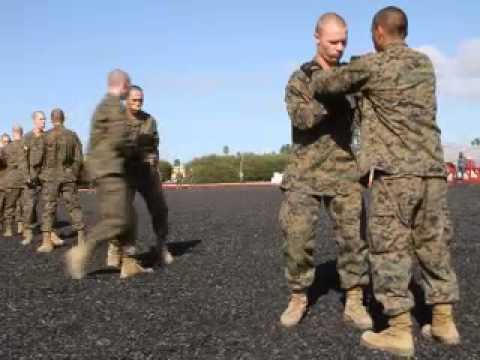 Marine recruits from Company C conduct training at Marine Corps Recruit Depot San Diego (Oct. 25, 2012)