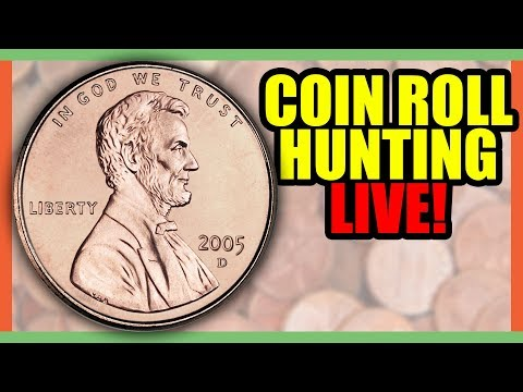 COIN ROLL HUNTING PENNIES!! COIN SEARCHING FOR RARE COINS WORTH MONEY!!