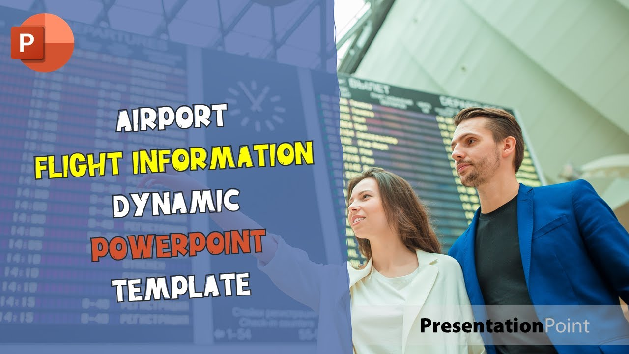 Airport Flight Information Dynamic Powerpoint Template