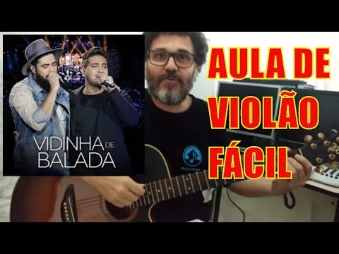 HENRIQUE E JULIANO - VIDINHA DE BALADA - AULA DE VIOLÃO SIMPLIFICADA- PROF.CLOVIS-YOU TUBE
