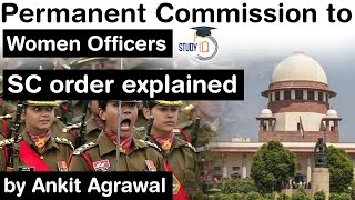Permanent Commission for Lady Officers in Armed Forces - Supreme Court decision explained #UPSC #IAS