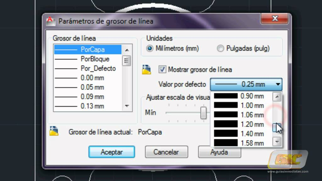 73a Autocad 2013 Grosor de lnea  YouTube