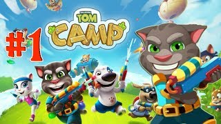 Говорящий Том Водная битва #1 игра про кота Лагерь Говорящего Тома Tom Camp