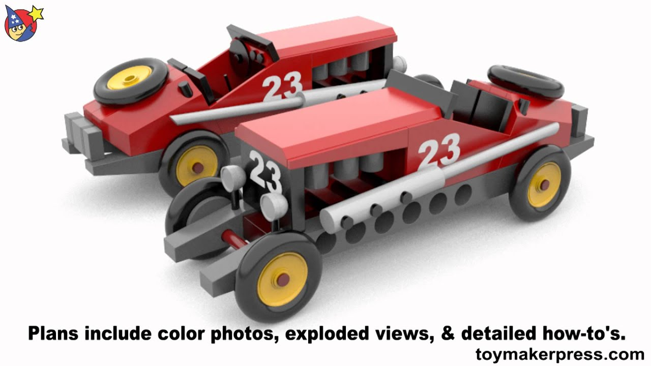 Wood Toy Plans Antique Race Car Youtube