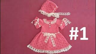 Dantelli Bebek Elbisesi ve Şapkası #1 - Elbise Yapımı (Roba) ( 1-2 Yaş)