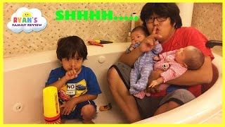 Kid Plays Hide N Seek with Twins baby sisters! Family Fun Playtime with Ryan's Family Review