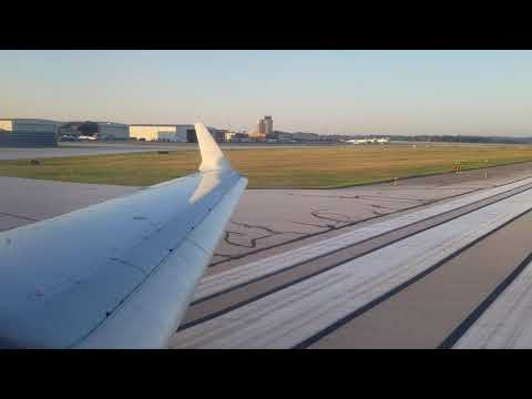American Airlines CRJ-700 Takeoff From Akron-canton Airport (CAK-CLT)