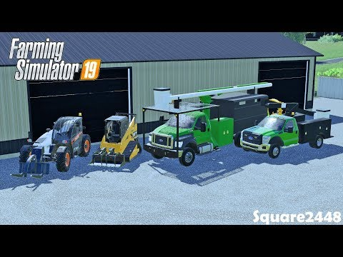 Moving Into New Tree Services Shop   Bucket Trucks   Work Trucks   Farming Simulator 19