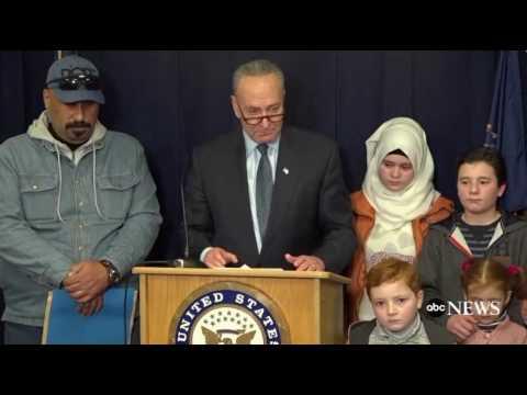 Chuck Schumer Cries Like a Bitch Over Trump Refugee Ban