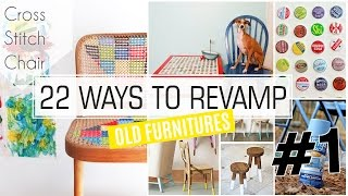 22 Ways How to Revamp Old Furniture #1