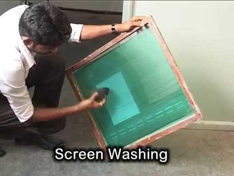 screen printing  process full video