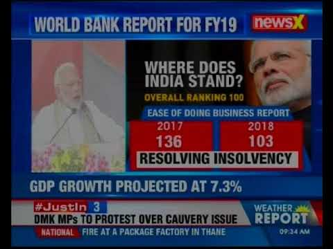 World Bank projects India's FY19 GDP growth at 7.3 per cent