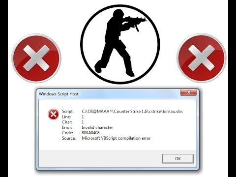 How To:Fix Counter Strike 1.6 Windows Script Host Error