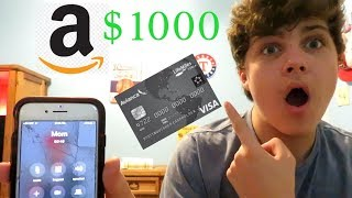 I Spent $1000 On Amazon With My MOMS CREDIT CARD! *NOT CLICKBAIT*