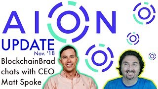 Обложка на видео - AION UPDATE | BlockchainBrad Exclusive with Matt Spoke | Interoperability & Usability | Blockchain