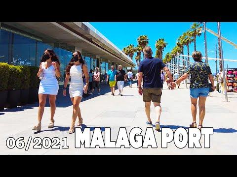 Malaga Port, Spain Walking Tour in June 2021 [4K]